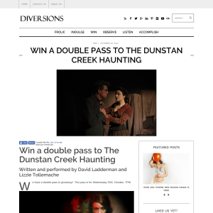 Win a Double Pass to The Dunstan Creek Haunting