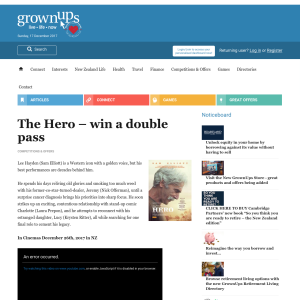 Win a double pass to The Hero