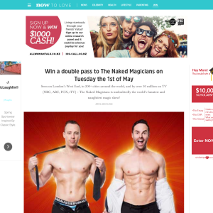 Win a double pass to The Naked Magicians