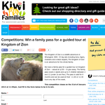 Win a family pass for a guided tour at Kingdom of Zion