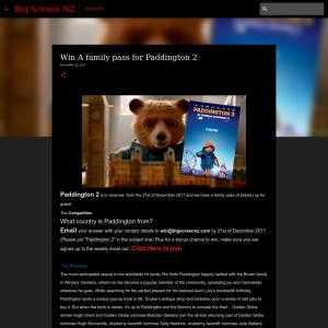 Win A family pass for Paddington 2