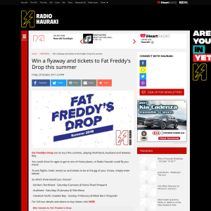 Win a flyaway and tickets to Fat Freddy's Drop this summer
