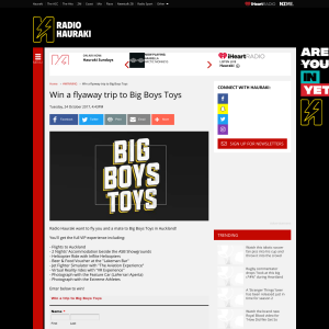 Win a flyaway trip to Big Boys Toys