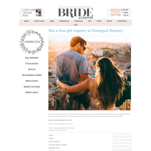 Win a free gift registry at Honeypot Registry