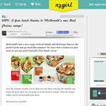 Win A free lunch thanks to McDonald?s new Real Choices range!