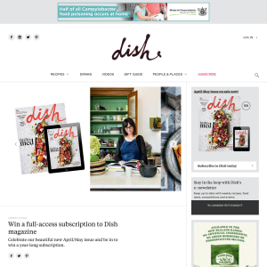 Win a full-access subscription to Dish magazine