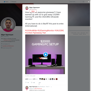 Win a Gaming PC and an LG 34