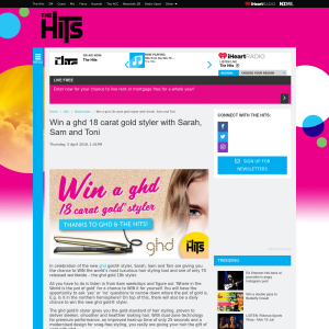 Win a ghd 18 carat gold styler with Sarah, Sam and Toni