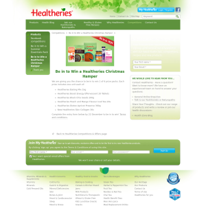 Win a Healtheries Christmas Hamper