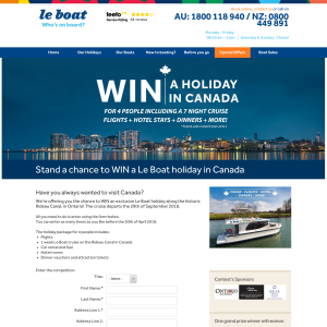 Win a Holiday in Canada for 4