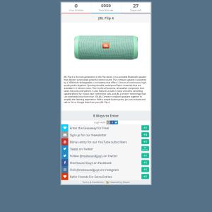 Win a JBL Flip 4 Bluetooth Speaker