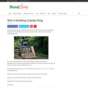 Win! A Kindling Cracker King