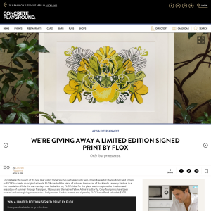 Win a Limited Edition signed print by FLox
