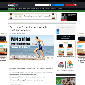 Win a men's health pack with the DRS and Abeeco