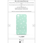 Win a mint crosses iPhone case