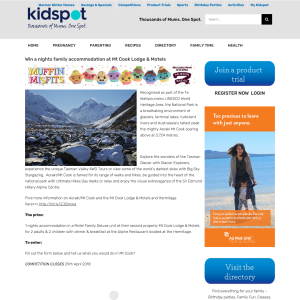 Win a nights family accommodation at Mt Cook Lodge & Motels