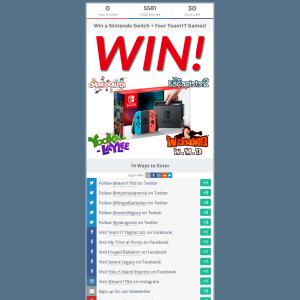 Win a Nintendo Switch with 4 Games