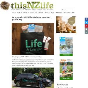Win a NZ Life & Leisure summer goodie bag