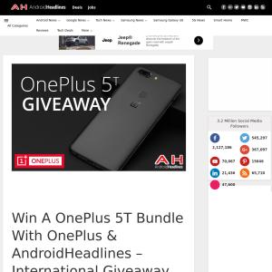 Win a OnePlus 5T Bundle