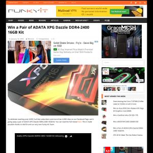 Win a Pair of ADATA XPG Dazzle DDR4-2400 16GB Kit