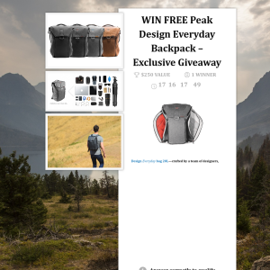 Win a Peak Design 20L Everyday Backpack