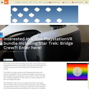 Win a PlaystationVR Bundle & Star Trek: Bridge Crew