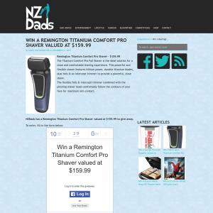 Win a Remington Titanium Comfort Pro Shaver