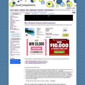 Win a Romantic Solomon Island honeymoon