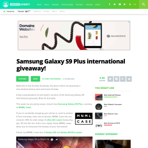 Win a Samsung Galaxy S9 Plus