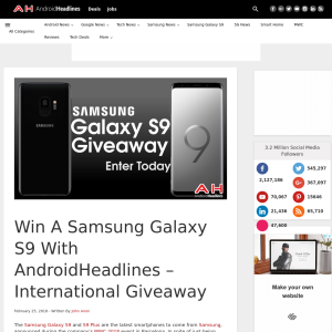 Win a Samsung Galaxy S9