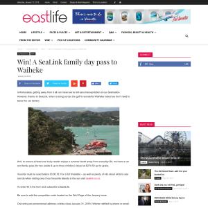 Win A SeaLink family day pass to Waiheke