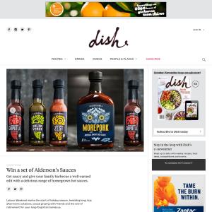 Win a set of Alderson's Sauces