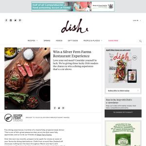 Win a Silver Fern Farms Restaurant Experience