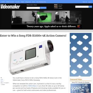 Win a Sony FDR-X1000v Action Camera
