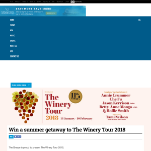 Win a summer getaway to The Winery Tour 2018