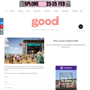 Win a ticket to Splore 2018