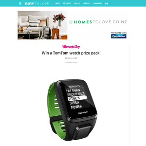Win a TomTom watch prize pack