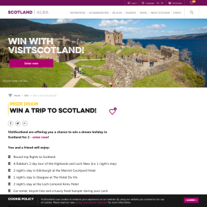 Win a Trip for 2 to Scotland