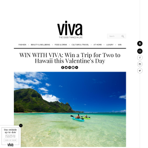 Win a Trip for Two to Hawaii this Valentine's Day
