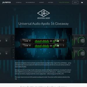 Win a Universal Audio Apollo 16