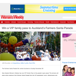 Win a VIP family pass to Auckland?s Farmers Santa Parade