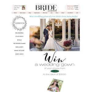 Win a wedding gown of your choice from Astra Bridal