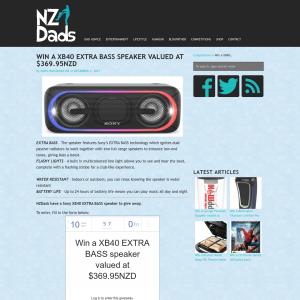 Win a XB40 EXTRA BASS speaker