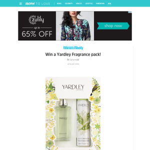 Win a Yardley Fragrance pack!