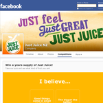 Win a years supply of Just Juice!