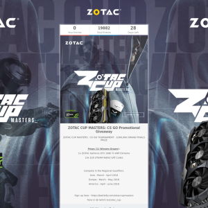Win a ZOTAC GeForce GTX 1080 Ti AMP Extreme or 1 of 10 $20 Steam Wallet Codes