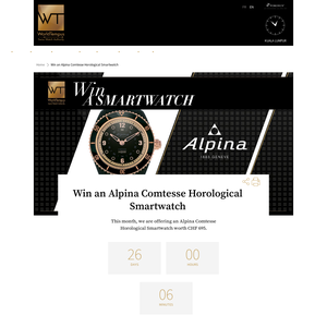 Win an Alpina Comtesse Horological Smartwatch