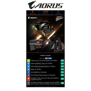 Win an AORUS GeForce GTX 1060 6GB or 1 of 2 AORUS Bundles