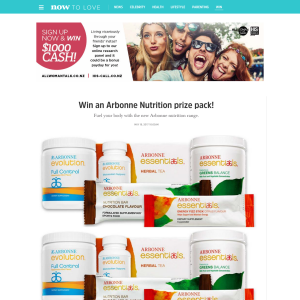 Win an Arbonne Nutrition prize pack
