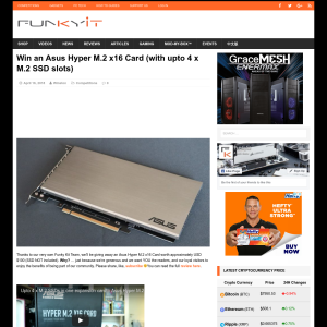 Win an Asus Hyper M.2 x16 Card